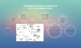 CONSIDERACIONES GENERALES DE LA MICROBIOLOGIA