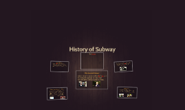 History of Subway