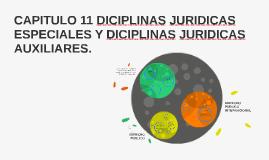 CAPITULO 11 DICIPLINAS ESPECIALES