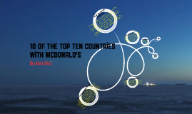 Copy of Countries With the Most McDonald's