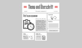 Thema und Überschrift