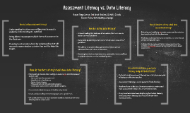 Assessment Literacy vs. Data Literacy