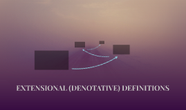 EXTENSIONAL (DENOTATIVE) DEFINITIONS