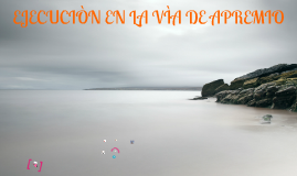Copy of EJECUCIÓN EN LA VÍA DE APREMIO