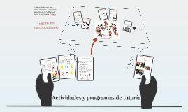 Actividades y programas de tutoría