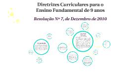 Diretrizes Curriculares para o Ensino Fundamental de 9 anos