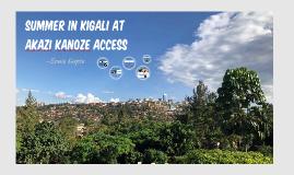 Summer in Rwanda