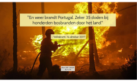 En weer brandt Portugal. Zeker 35 doden bij honderden bosbra