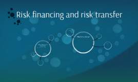 Risk financing and risk transfer