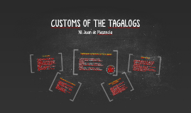 Copy of CUSTOMS OF THE TAGALOG
