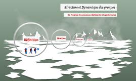 Structure et Dynamique de groupe