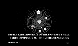 FASTER EXPANSION RATE OF THE UNIVERSE