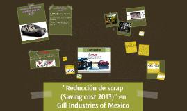 Reducción de scrap (Saving cost 2013) en Gill Industries of