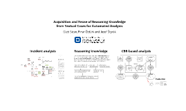 Acquisition and Reuse of Reasoning Knowledge from Textual Cases for Automated Analysis