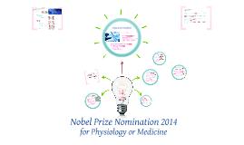 Nobel Prize Nomination 2014