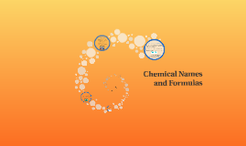 Copy of Chemical Names and Formulas