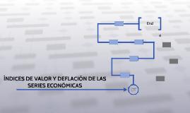 ÍNDICES DE VALOR Y DEFLACIÓN DE LAS SERIES ECONÓMICAS