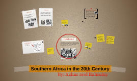 Southern Africa in the 20th Century