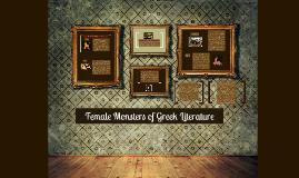 Female Monsters of Greek Literature
