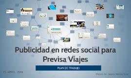Publicidad en redes social para Previsa Viajes