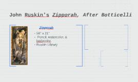 John Ruskin's Zipporah, After Botticelli