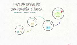 INTRUMENTOS DE EVALUACIÓN CLÍNICA