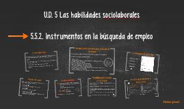 U.D. 5 Las habilidades sociolaborales