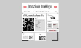 Internationale Betrekkingen
