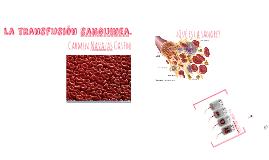 La transfusión sanguinea.
