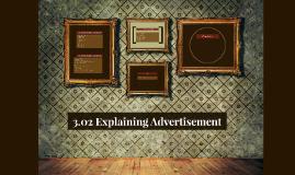 3.02 Explaining adverstiment