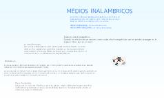 MEDIOS INALAMBRICOS