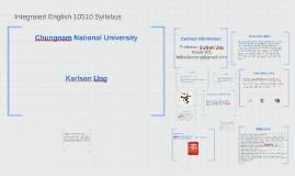 Integrated English 10510 Syllabus