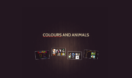 Copy of Animals - revision colours