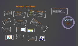 Copy of Sistemas de Gestión de calidad