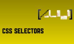 CSS Selectors
