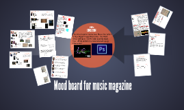 Mood board for music magazine