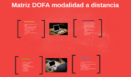 Copy of  Matriz DOFA de modalidad a distancia