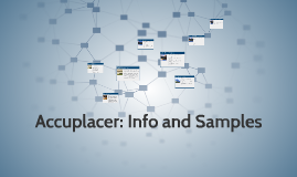 Accuplacer: Info and Samples