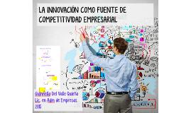 Copy of La innovación como fuente de competitividad empresarial