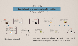 Copy of Events leading to the American Revolution