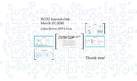 PCCU Journal club