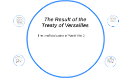 The Result of the Treaty of Versailles