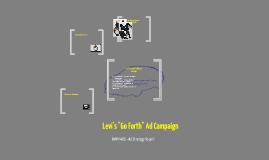 """Levi's """"Go Forth"""" Ad Campaign"""