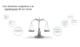 Los derechos subjetivos y la clasificacion de las cosas.