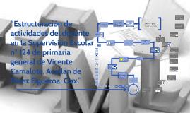 """""""Estructuración de actividades del docente en la Supervisión"""