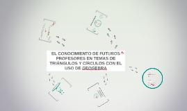EL CONOCIMIENTO ESPECIALIZADO DE FUTUROS PROFESORES EN TEMAS