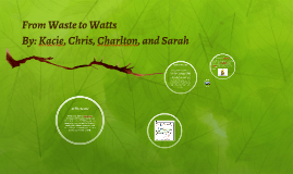 From Waste to Watts