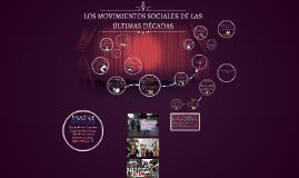 LOS MOVIMIENTOS SOCIALES DE LAS ÚLTIMAS DÉCADAS