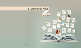 Le Canon de la Bible