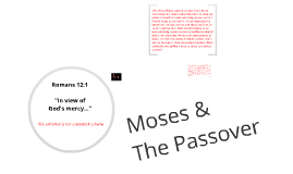 Copy of Moses and the Passover
